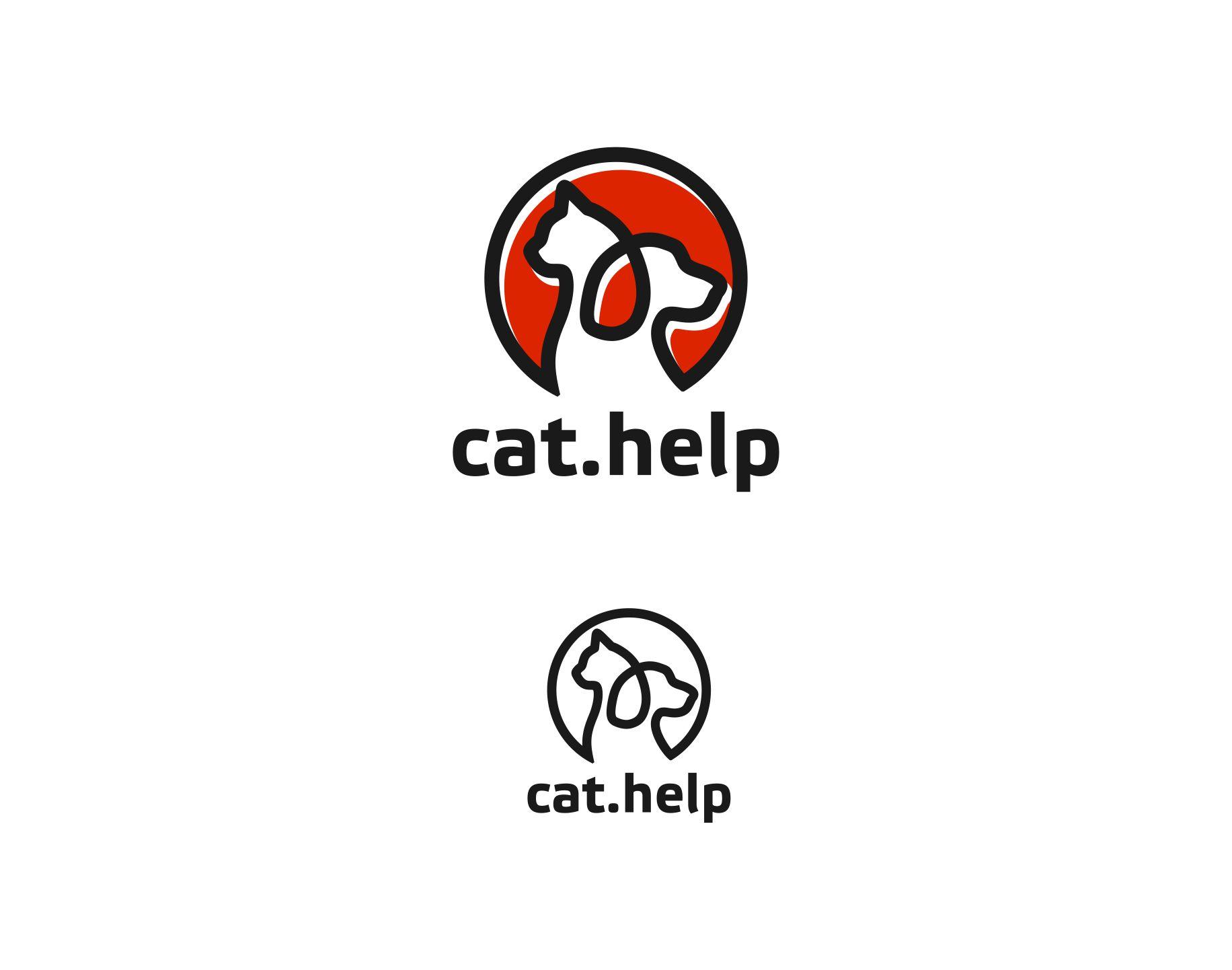 логотип для сайта и группы вк - cat.help фото f_30359d9733ea0256.jpg