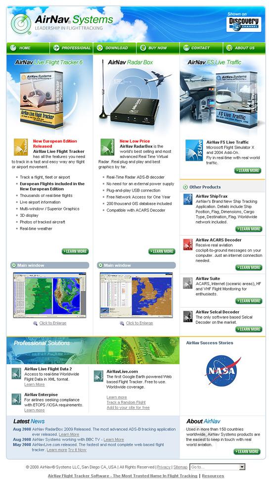 Редизайн сайта AirNav Systems