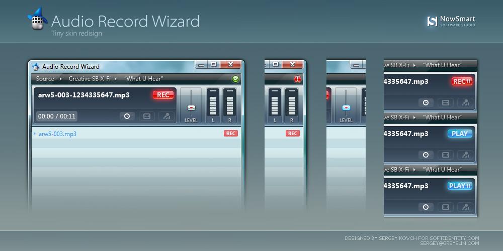 Audio Record Wizard skin