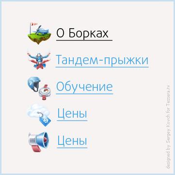 Иконки для сайта аэродрома Борки