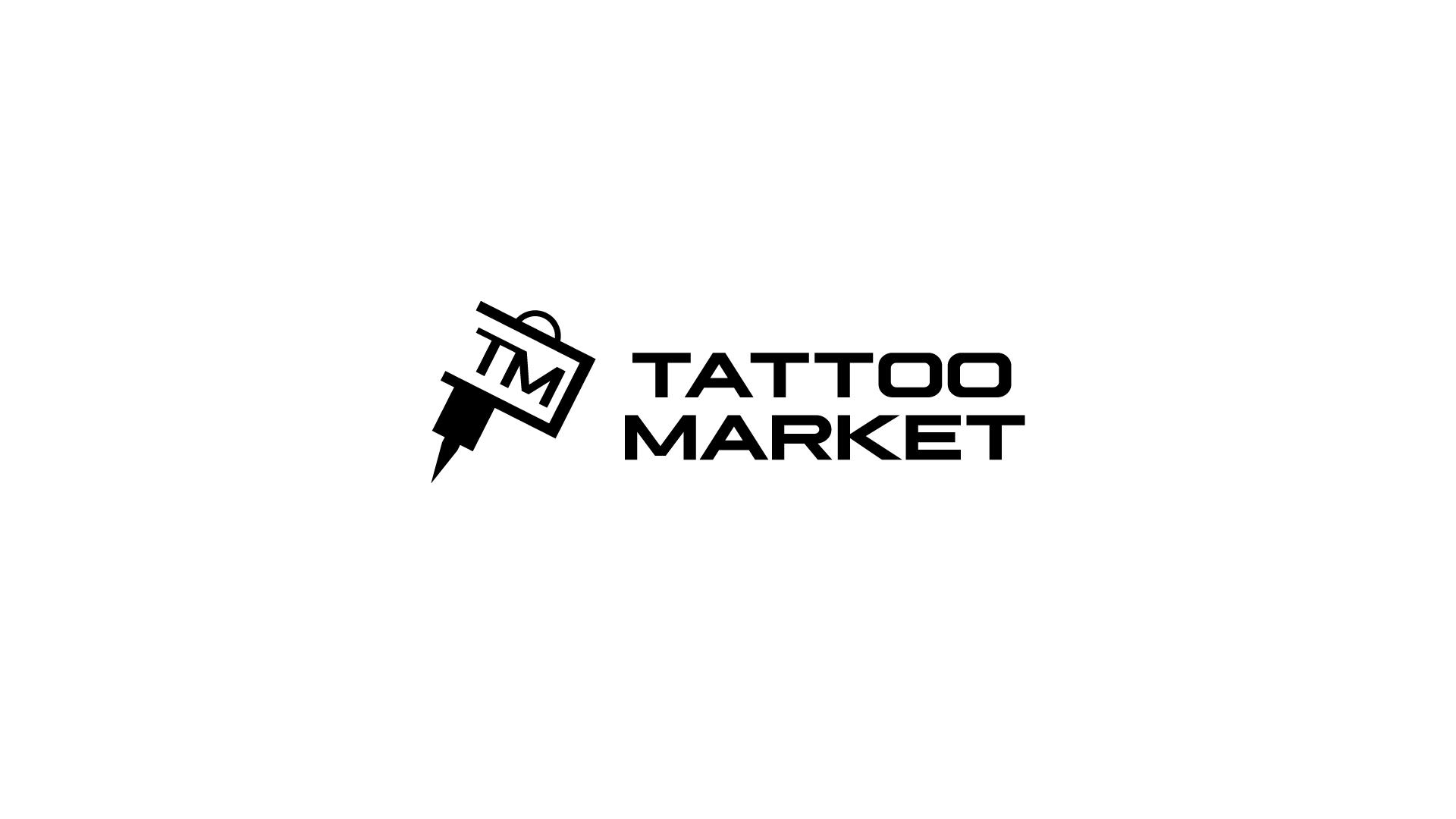 Редизайн логотипа магазина тату оборудования TattooMarket.ru фото f_6585c408c668e4d7.png