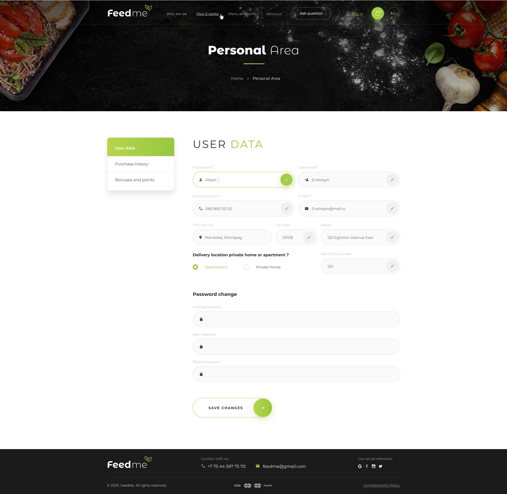 FeedMe доставка еды | Service