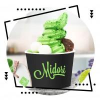 """Логотип, упаковка и фирменный стиль для мороженого """"Midori"""""""