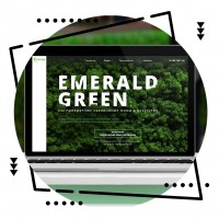 "Дизайн лендинга ""Emerald green"""