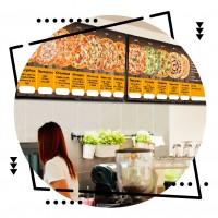 Дизайн меню стенда для пиццерии