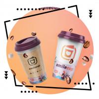 Фирменный стиль и лого для кофейни с фото на кофе