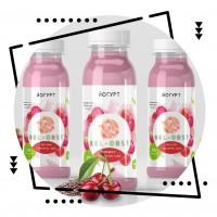 Дизайн серии этикеток для йогурта