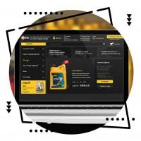 Дизайн интернет-магазина масел и комплектующих для автомобиля