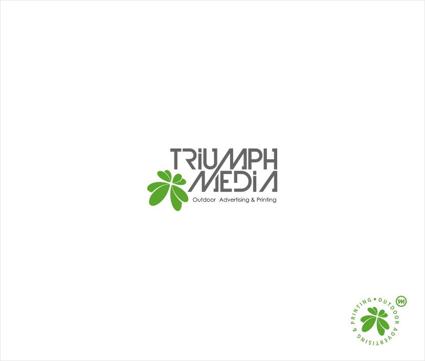 Разработка логотипа  TRIUMPH MEDIA с изображением клевера фото f_507448071f190.png