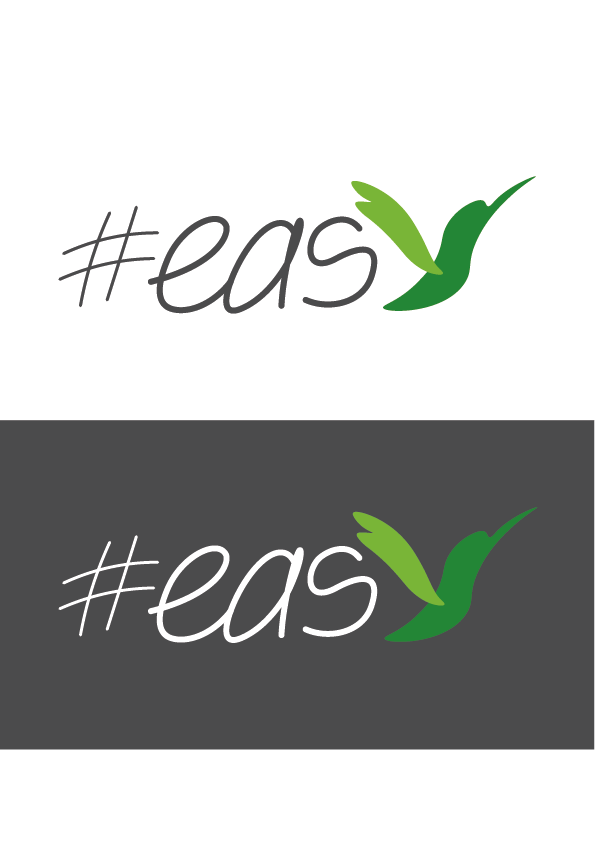 Разработка логотипа в виде хэштега #easy с зеленой колибри  фото f_4995d51570f17fe0.png