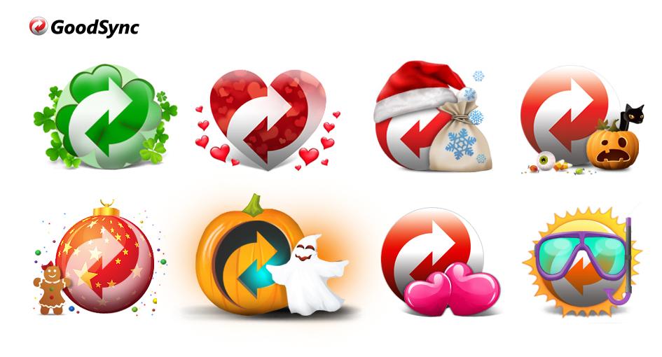 Иконки-лого для праздничных рекламных акций