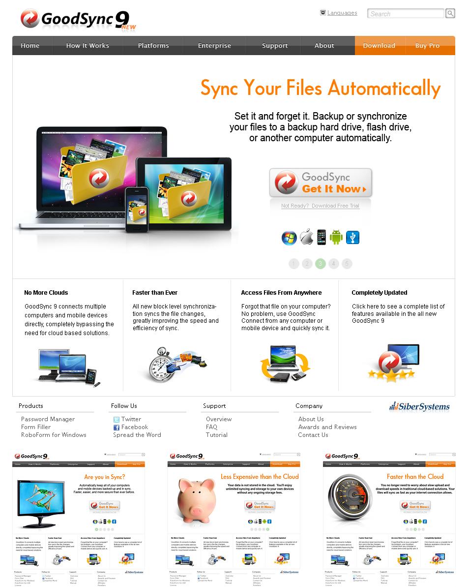 Программа синхронизации файлов. сайт