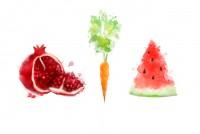 Акварельные фрукты