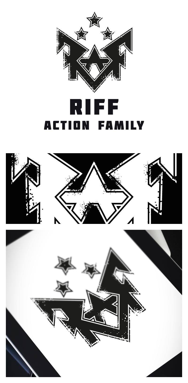 R.A.F. логотип для рок-группы