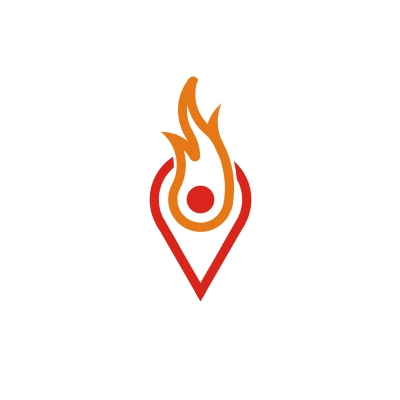 Flame-place logo
