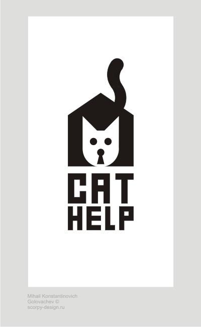 логотип для сайта и группы вк - cat.help фото f_28459da0a4e9d019.jpg