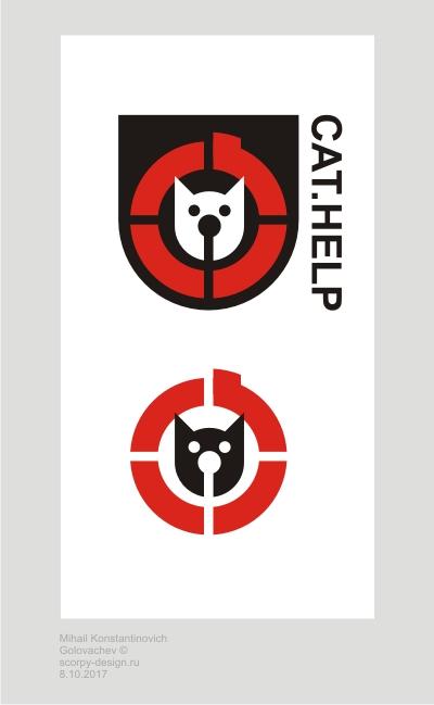 логотип для сайта и группы вк - cat.help фото f_47659da0c36c8315.jpg