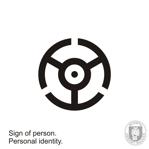 Sign of person