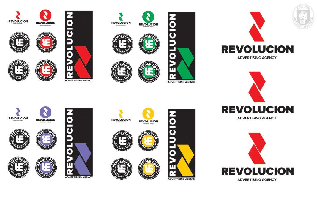 Разработка логотипа и фир. стиля агенству Revolución фото f_4fc0e24b28841.jpg