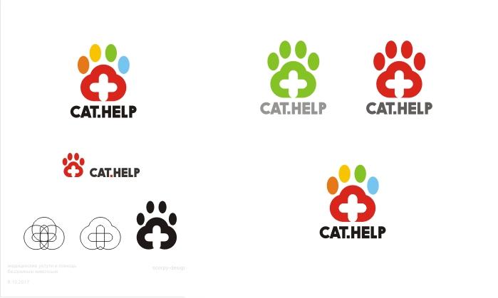 логотип для сайта и группы вк - cat.help фото f_57459db396aac15c.jpg