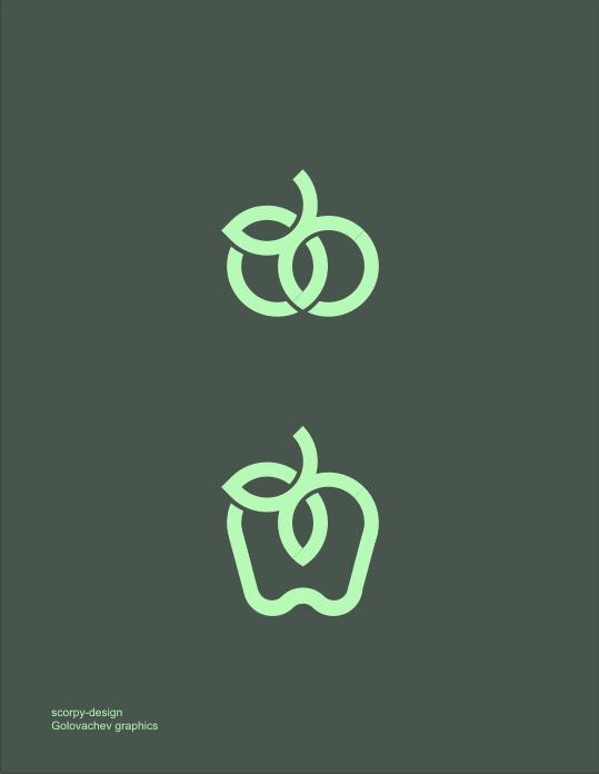 Яблоко. Графический знак