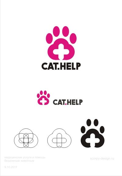 логотип для сайта и группы вк - cat.help фото f_82659db384fed904.jpg