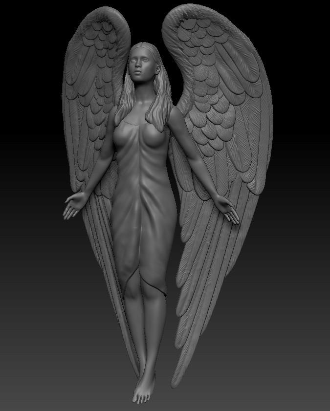 Ангел (сложенные крылья)