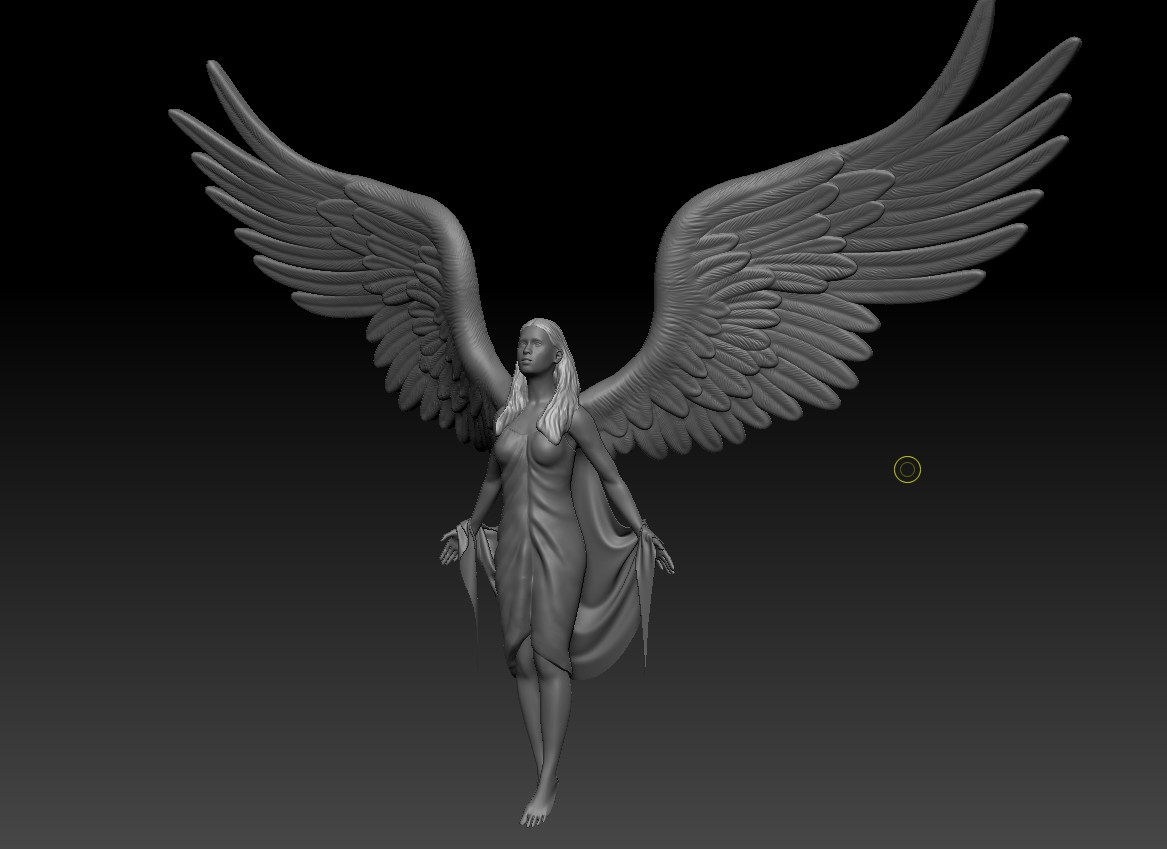 Ангел (раскрытые крылья)