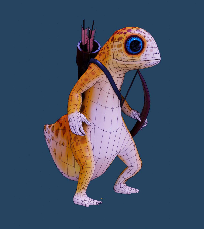 Ящерица лучник