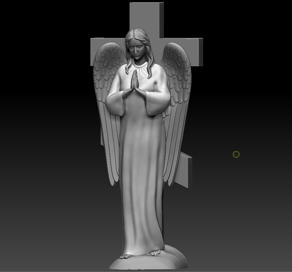 Ангел (фрезеровка из мрамора)