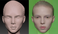 Девушка лицо