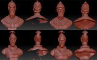 Обработка сканов бюстов 3