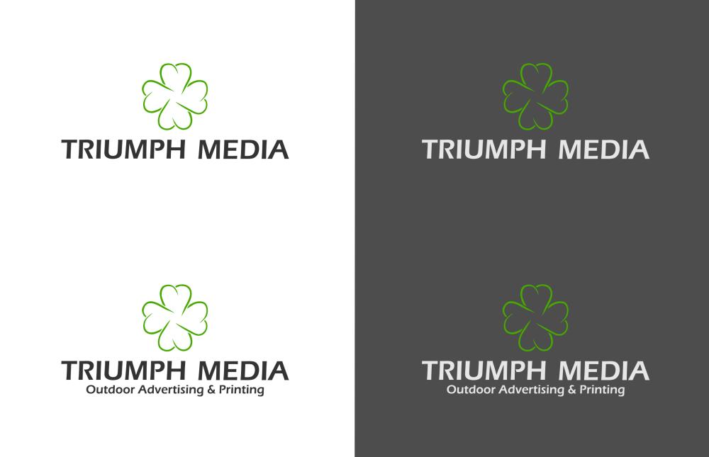 Разработка логотипа  TRIUMPH MEDIA с изображением клевера фото f_507011e9029d5.png