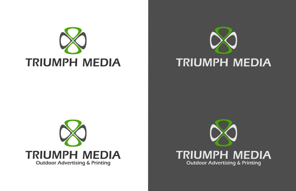 Разработка логотипа  TRIUMPH MEDIA с изображением клевера фото f_507148af2a666.png