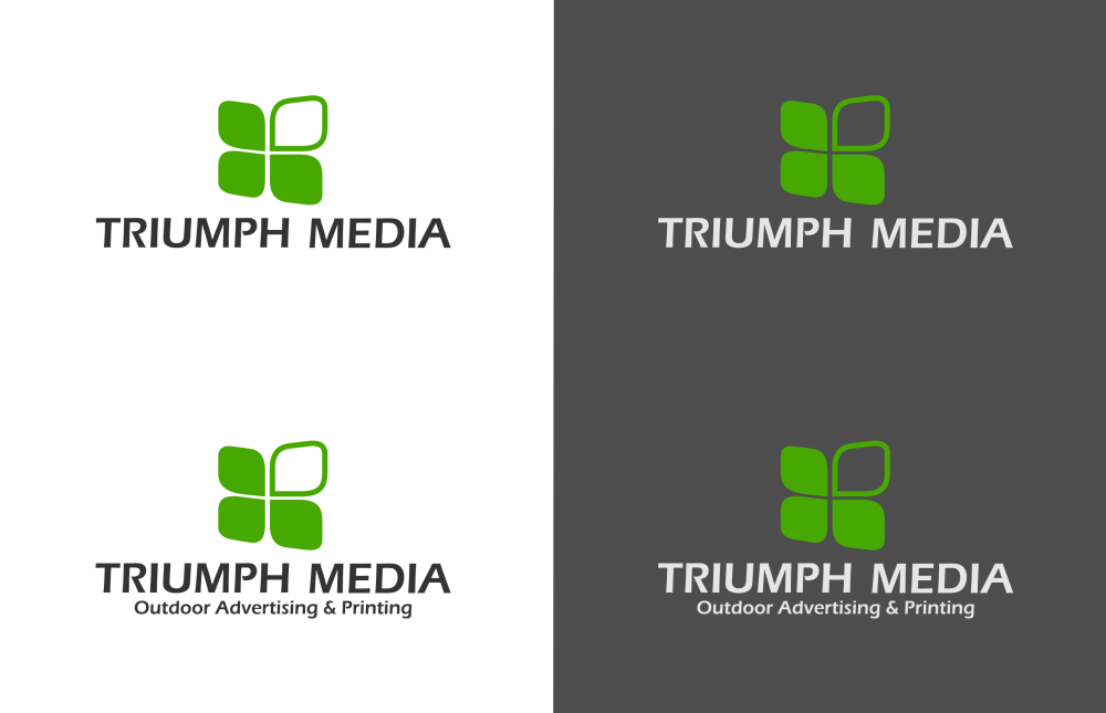Разработка логотипа  TRIUMPH MEDIA с изображением клевера фото f_507148bcaffb9.png
