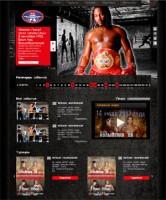 Верстка для сайта боксерских поединков (3 макета)