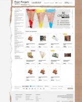Верстка интернет-магазина художественного салона