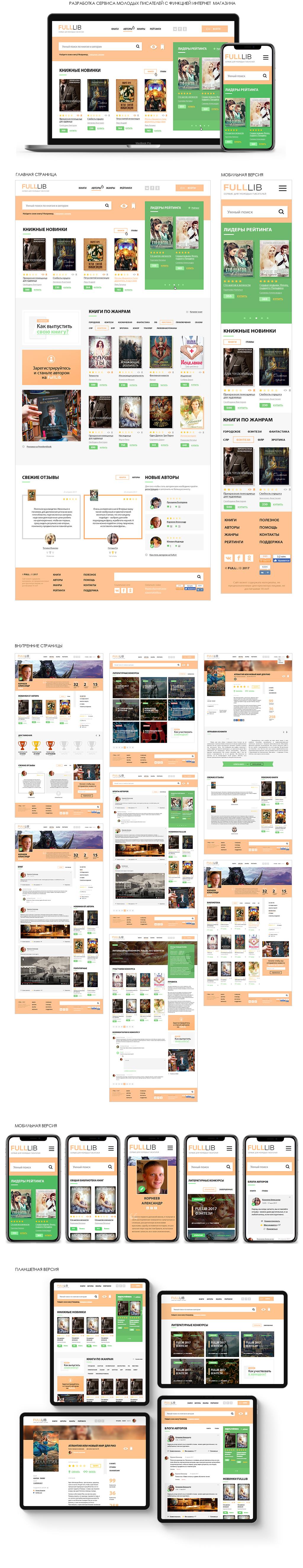 Интернет магазина книг и портал писателей - FullLib