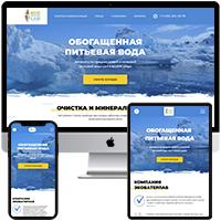 Landing page для производителя фильтров для воды - EcoWaterLab
