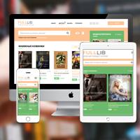 Адаптивная responsive верстка framework bootstrap - Интернет магазина книг