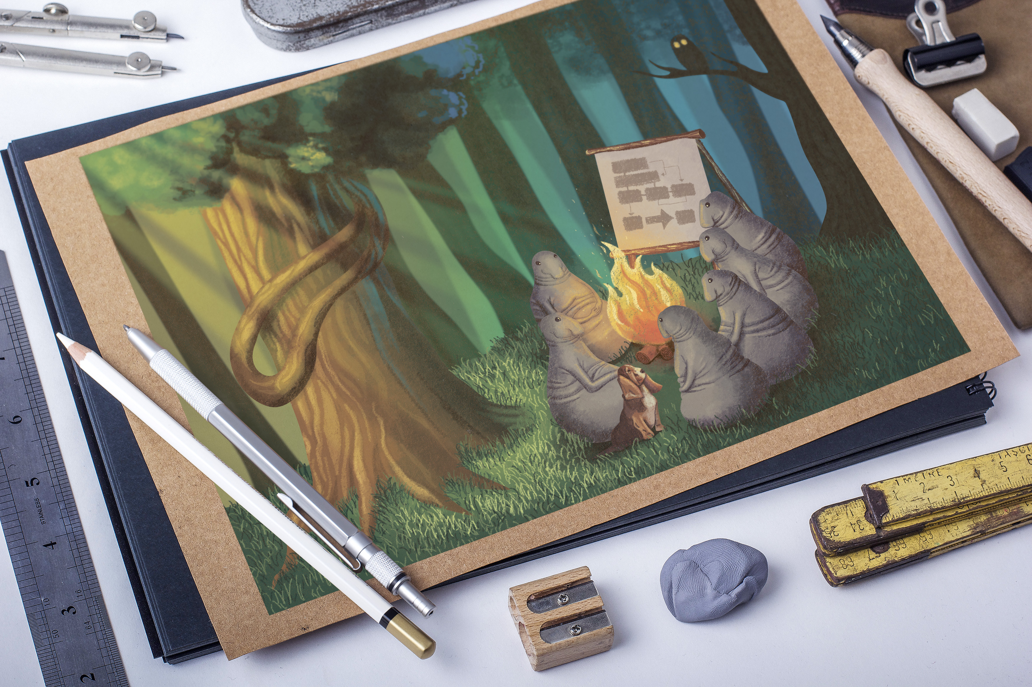 Иллюстрация для обложки игры - Ждуны-колдуны