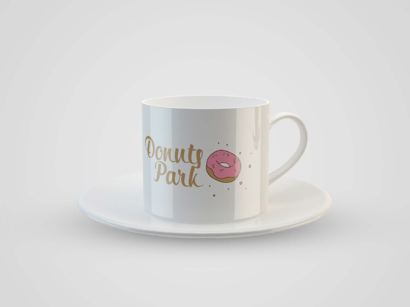 Логотип для пончиковой DonutsPark