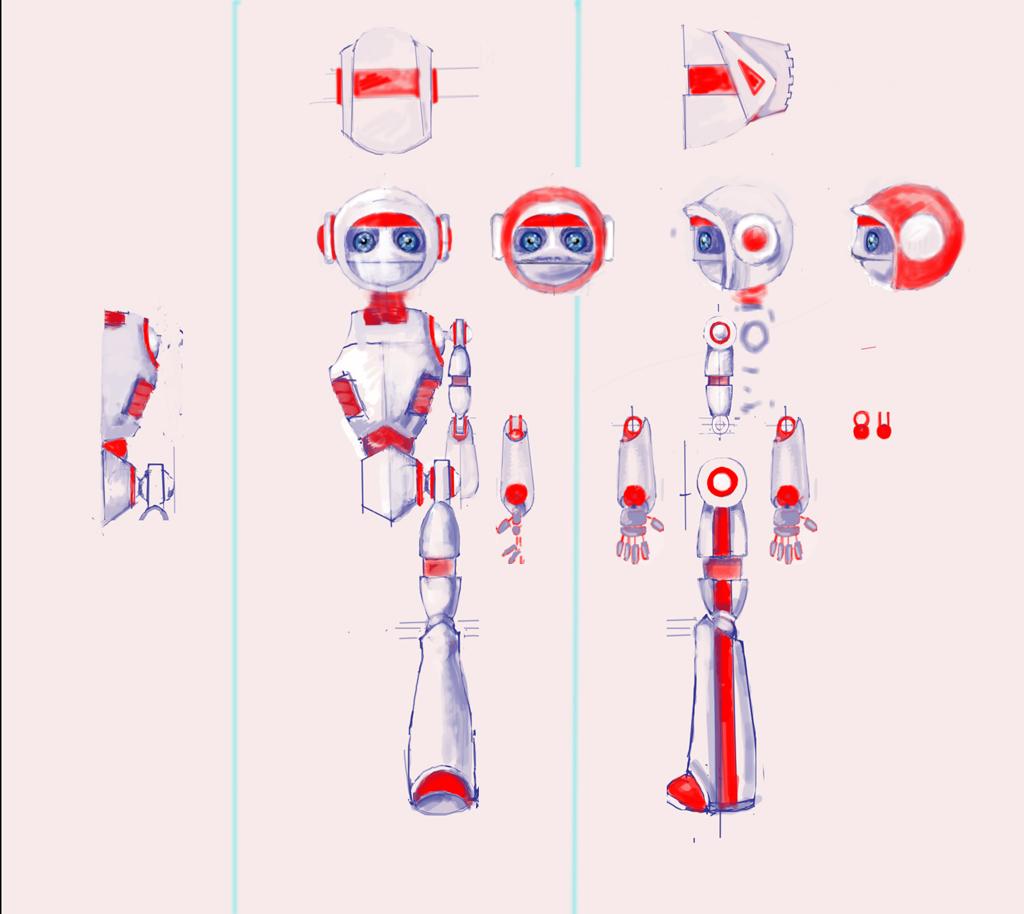 """Модель Робота - Ребёнка """"Роботёнок"""" фото f_4b8720fd3ce91.jpg"""