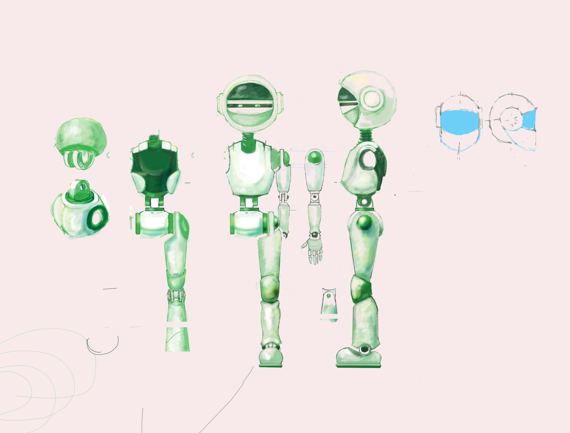 """Модель Робота - Ребёнка """"Роботёнок"""" фото f_4b872124efcc8.jpg"""