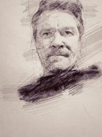 Стилизация под карандаш, набросок, автопортрет