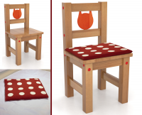 Фотомонтаж, стул+подушка