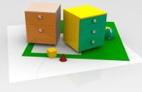 Моделирование, визуализация, Тумбы для печатного каталога