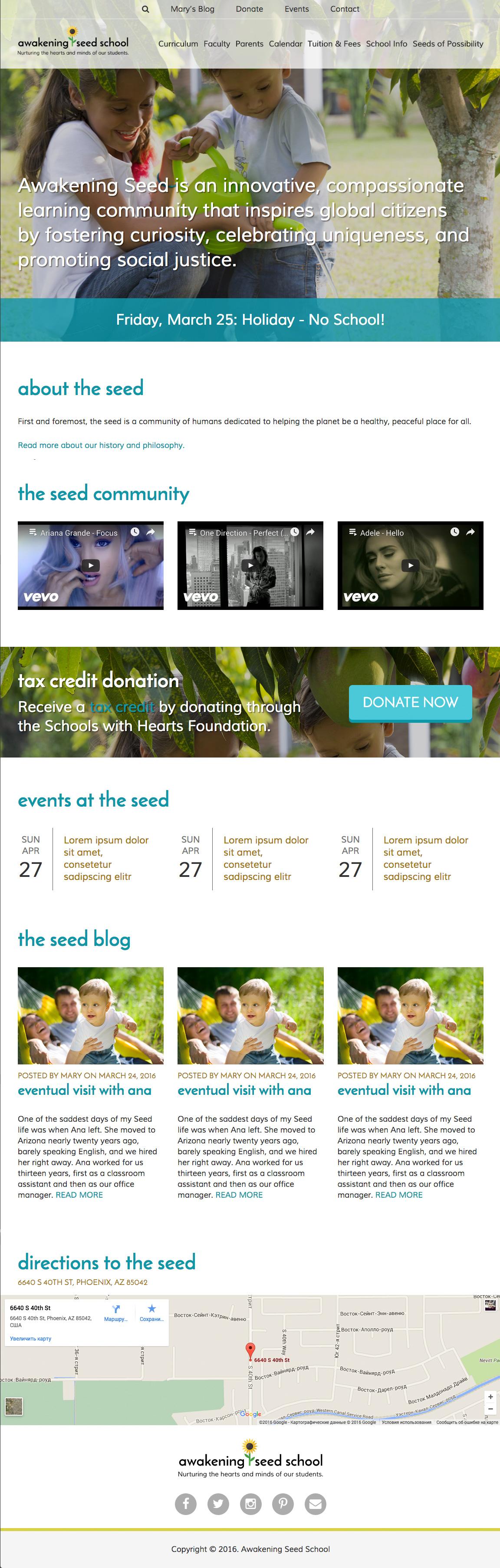 Awakening - Responsive website
