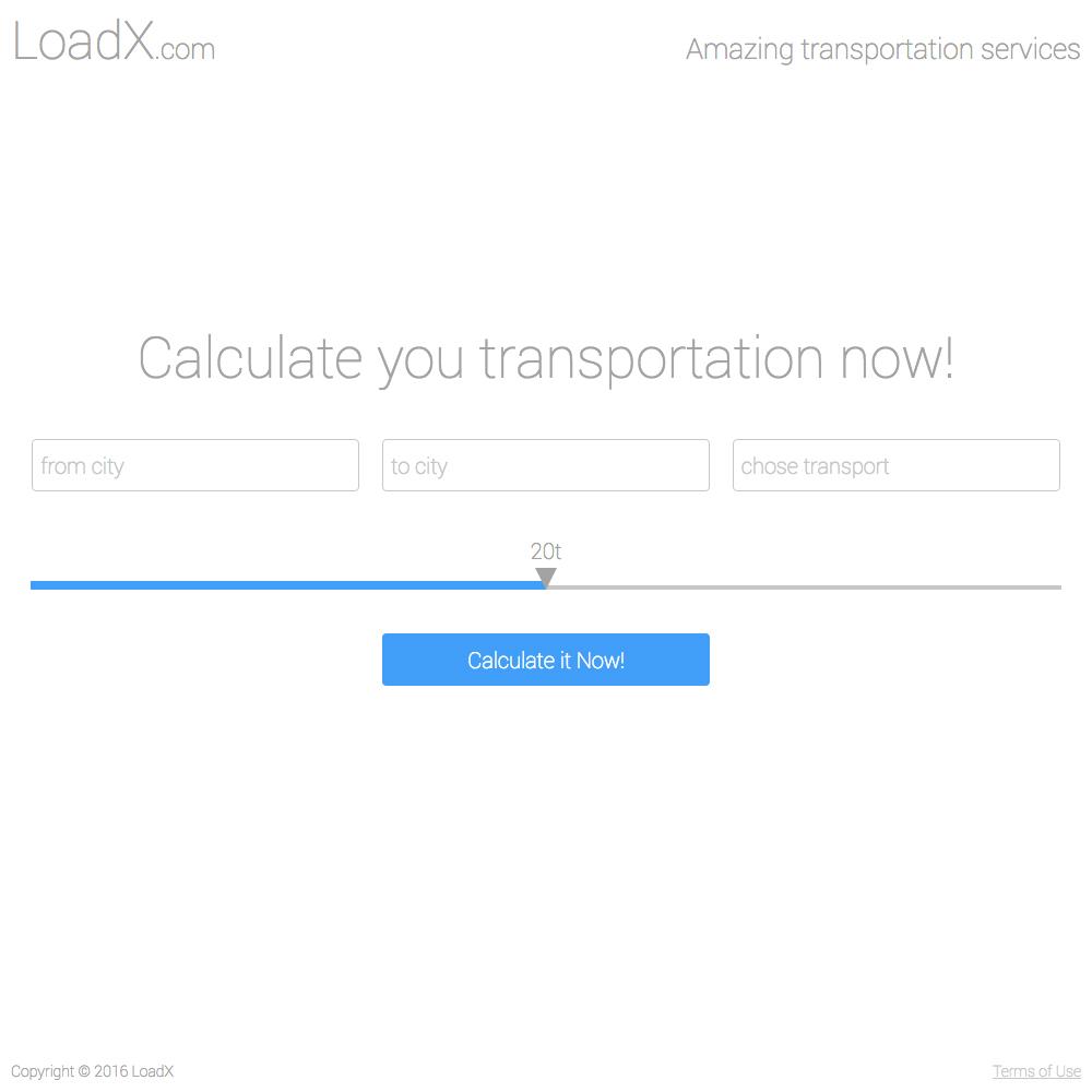LoadX - одностраничник