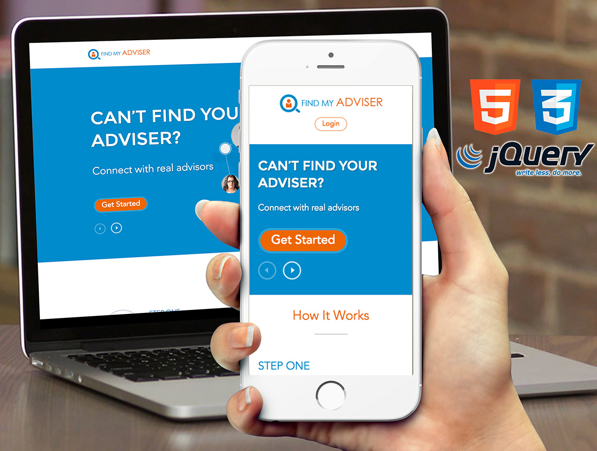 Adviser - Responsive landing page